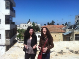 Sally and Jasmin on the roof