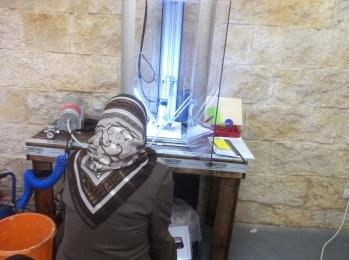 Faten and the printer