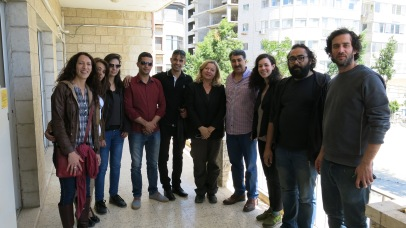 with the mayor of Ramallah