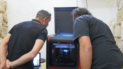 watching the 3D printer