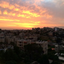 Sunset over Ramallah