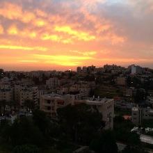 Sunset over Ramallah